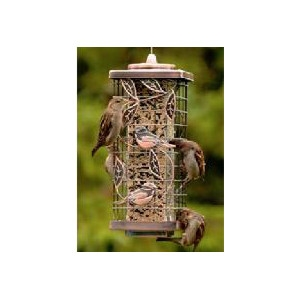 Audubon Squirrel-Resistant Copper Caged Tube Feeder