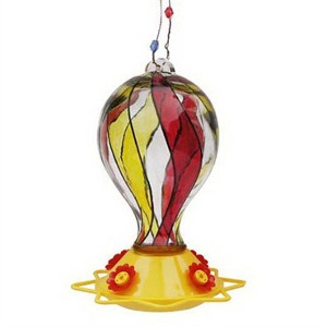 Friends of Flight® Glass Balloon Shaped Hummingbird Feeder