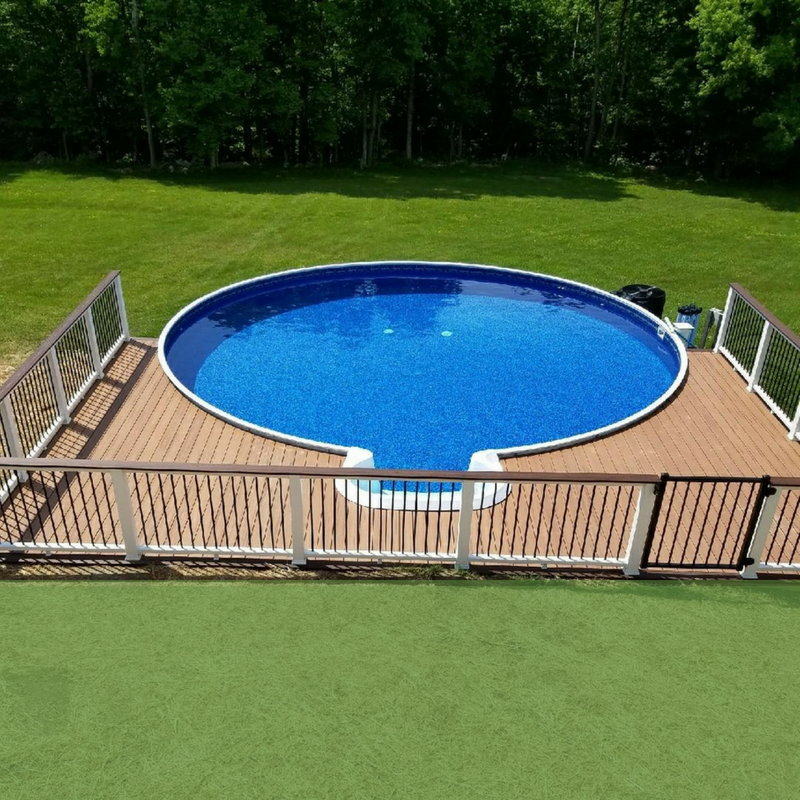 pool with trex deck