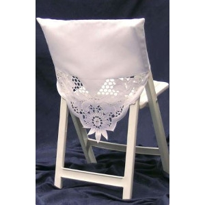 White Square Top Chair Shawl