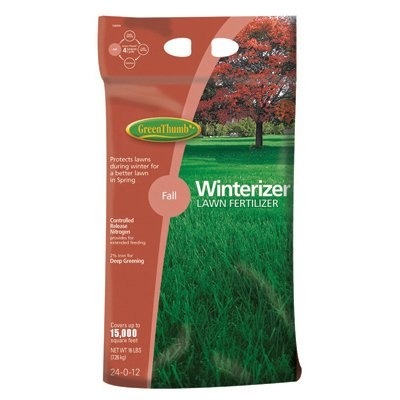 Green Thumb Premium Winterizer Lawn Fertilizer, 15M