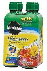 Miracle Gro LiquaFeed Plant Food Refills, 4 pk.