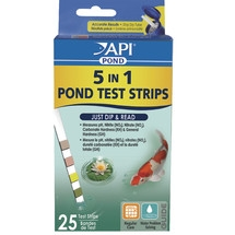 API 5 in 1 Test Dip Strips for Ponds