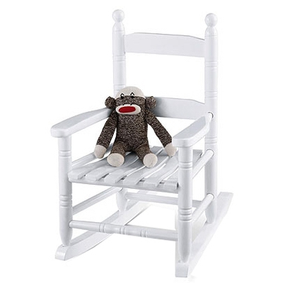 Child's White Porch Rocker