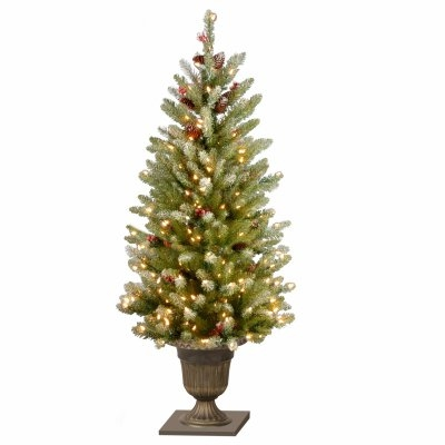 4' Snowy Green Dunhill Fir Artificial Entrance Tree