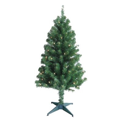 4' Artificial Christmas Tree with Clear Lights