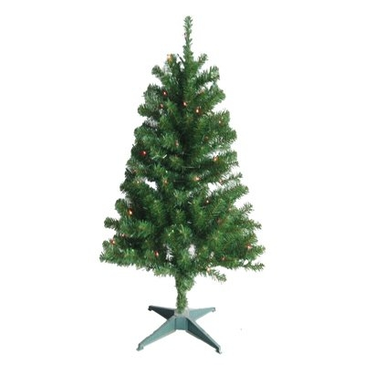 4' Artificial Christmas Tree with Multi Colored Lights