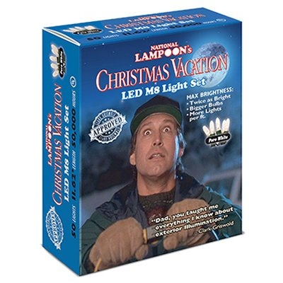 Christmas Vacation 70-Light Pure White LED Icicle Light Set