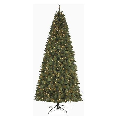 9' Pre-Lit CLR Slim Virginia Spruce Artificial Tree