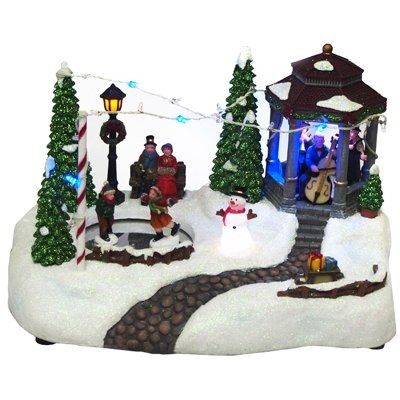 Animated Holiday Gazebo Scene