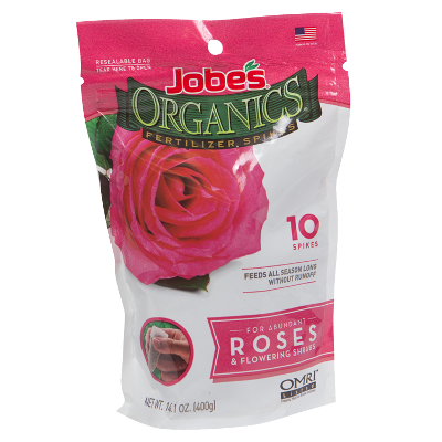 Jobe's Organics Fertilizer Spikes For Roses & Flowering Shrubs