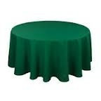 Tablecloth - Hunter Green Round 96""
