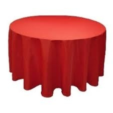 Tablecloth - Red Round 96""