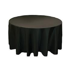 Tablecloth - Black Round 120""