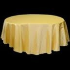Tablecloth - Gold Round 102""