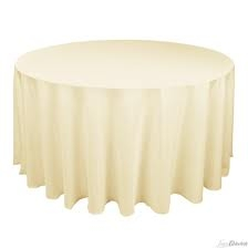 Tablecloth - Ivory Round 96""