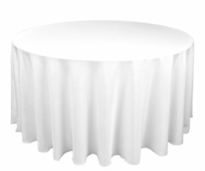 Tablecloth - White Round 96""