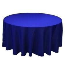 Tablecloth - Royal Blue Round 96""