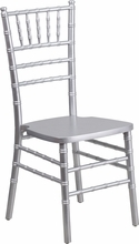 Hercules Chiavari Chair, Silver Wood