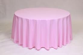 Tablecloth, Light Pink Round 96""
