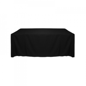 Tablecloth, Black Long 90x132""