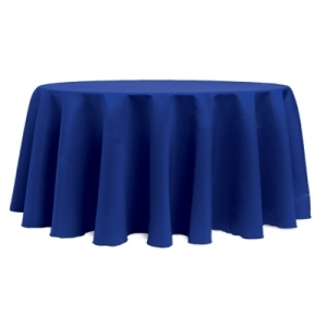 Tablecloth, Royal Blue Round 120""