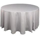 Tablecloth - Silver Round 102""