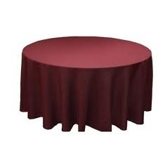 Tablecloth - Burgundy Round 96""