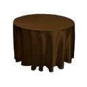 Tablecloth - Chocolate Round 102""