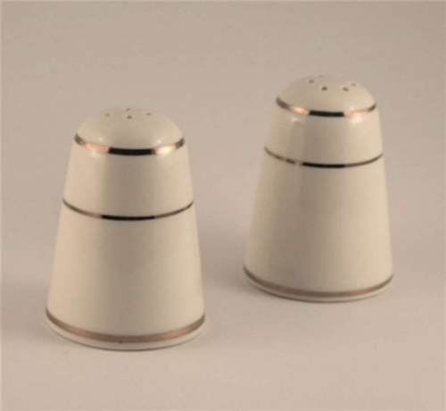Gold Rim Salt and Pepper Shaker