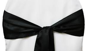 Chair Sash - Black