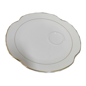 Gold Rim Snack Plate