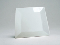 China White Square Salad Plate