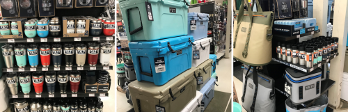 We are an authorized Yeti dealer.