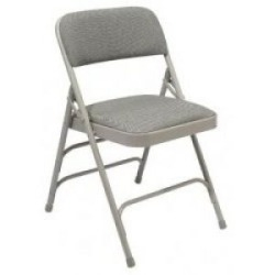 Grey Padded Chairs
