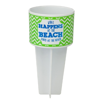 Beach Buddy Cup Holder - What Happens at the Beach, Stays at the Beach