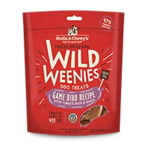 Stella & Chewy's Freeze Dried Raw Wild Weenies - Game Bird Treats