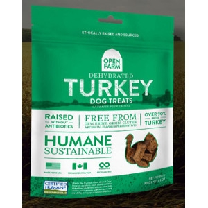 Open Farm Dehydrated Turkey Dog Treats 4.5oz