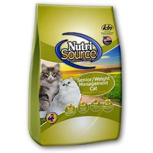 NutriSource Senior / Weight Management Cat Food 6.6lb