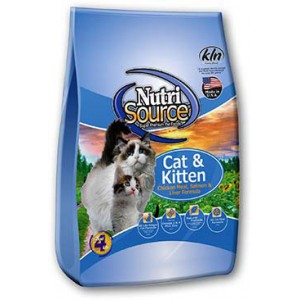 NutriSource Cat & Kitten Chicken Meal, Salmon & Liver Formula 6.6lb