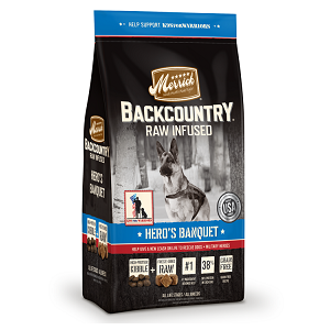 Merrick Backcountry Raw Infused Hero's Banquet Dry Recipe for Dogs 22lb