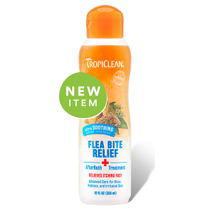 Tropiclean Natural Flea & Tick Bite Relief After Bath Treatment 12 fl. Oz.