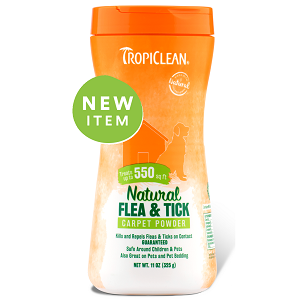 Tropiclean Natural Flea & Tick Carpet & Pet Powder 11oz