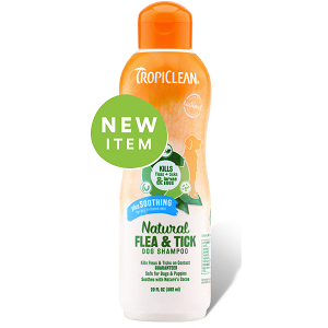 Tropiclean Natural Flea & Tick Shampoo, Plus Soothing 20 fl. Oz.