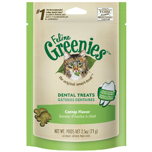 Feline Greenies Dental Treats Catnip Flavor 11oz