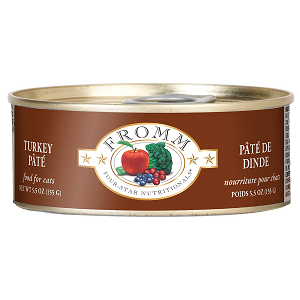Fromm Four Star Turkey Pate Canned Cat Food 5.5oz