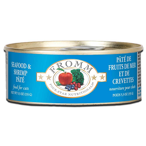 Fromm Four Star Seafood & Shrimp Pate Canned Cat Food 5.5oz