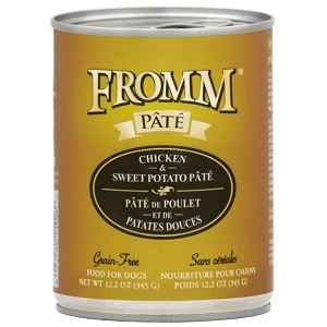 Fromm Chicken & Sweet Potato Pate Grain Free Canned Dog Food 12.2oz