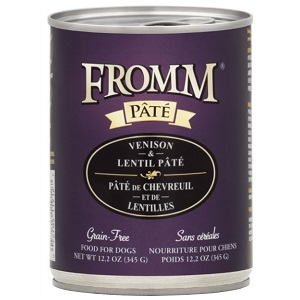 Fromm Venison & Lentil Pate Grain Free Canned Dog Food 12.2oz