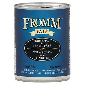 Fromm Whitefish & Lentil Pate Grain Free Canned Dog Food 12.2oz